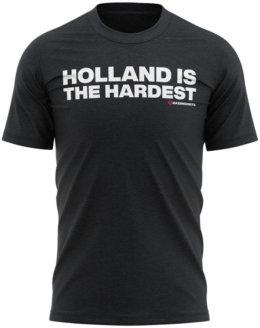holland is the hardest heren tshirt zwart