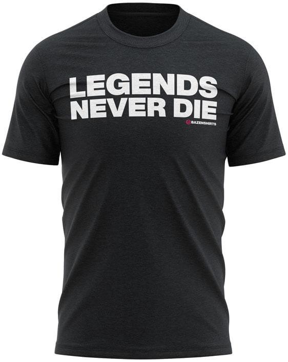 legends never die heren tshirt zwart