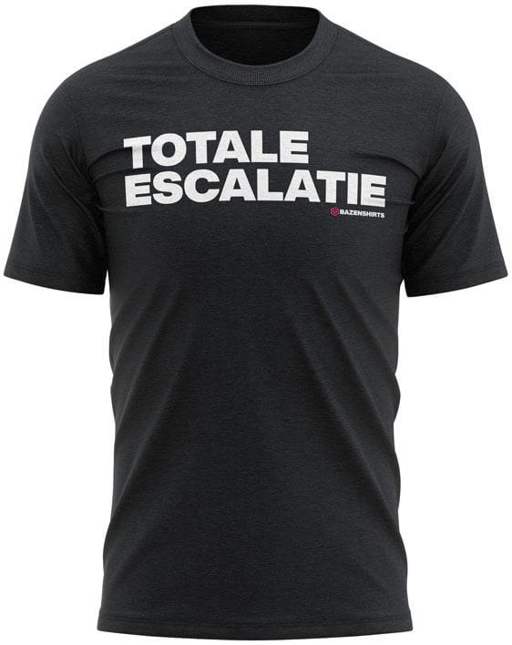 totale escalatie heren tshirt zwart