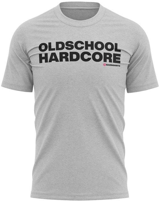 oldschool hardcore heren tshirt grijs